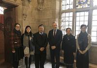 中山大学新华学院代表团访问英国班戈大学