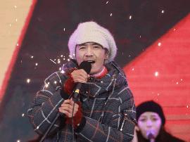 北京卫视跨年晚会录制 朴树黑豹乐队动情演绎经