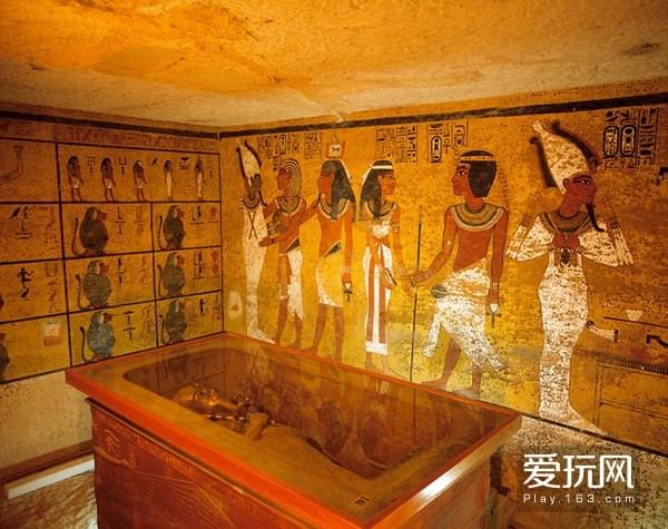 8著名法老图坦卡蒙的墓室,这其中的壁画对考古学家而言比金银更珍贵