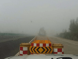 大同通往太原方向康庄服务区有团雾影响通行