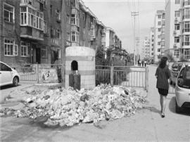 一觉烧菜开侧门续:门被城管封后堆垃圾堵小区
