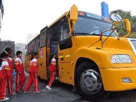 太原教育局局长:正在探索专业校车接送学生模式