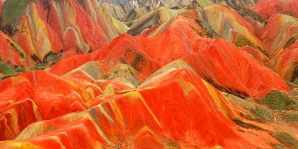 航拍:张掖丹霞国家地质公园