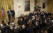 川普出席白宫高层入职仪式