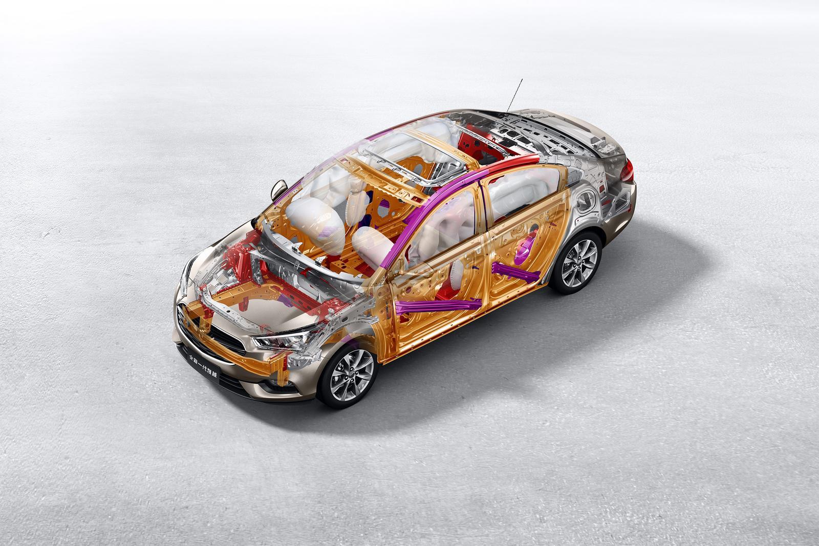 全新一代凯越车身高强度钢使用比例达65%