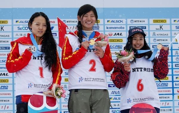 中国分获单板滑雪男女U型池冠军