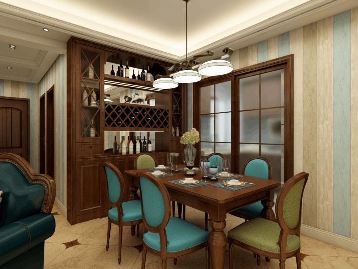 伟业龙湖上城106㎡三居室混搭装修设计效果图