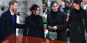 哈里携未婚参观城堡 准王妃衣品不输凯特