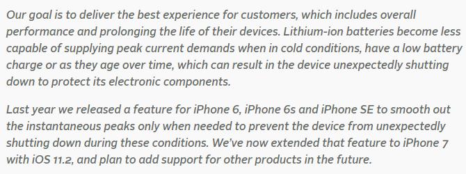 苹果解释老iPhone为何变慢:引入算法防手机关机