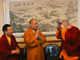 不丹第七世冉江法王一行朝拜五台山