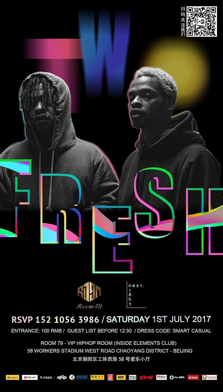 """next night""企划上线:美国DJ双子星Two Fresh将临京城"