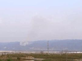运城市盐湖区盐池南边中条山突发大火,目前尚未扑灭