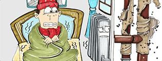 """关注:暖气不热有四种情况需要""""对症下药"""""""