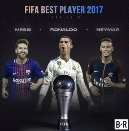 FIFA年度最佳球员候选:梅西C罗内马尔