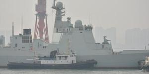船厂内部照曝光2部055导弹驱逐舰舰岛