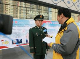 三门峡支队就消防宣传月活动接受5家主流媒体采访
