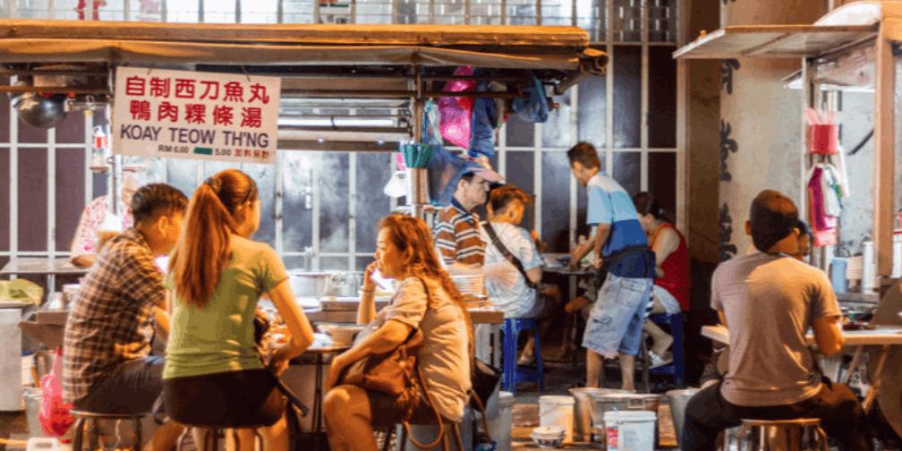 槟城涂鸦与美食并存,租个摩托才算正确的旅行方式