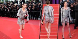 脱鞋光脚走戛纳红毯 Kristen Stewart的回应太酷了
