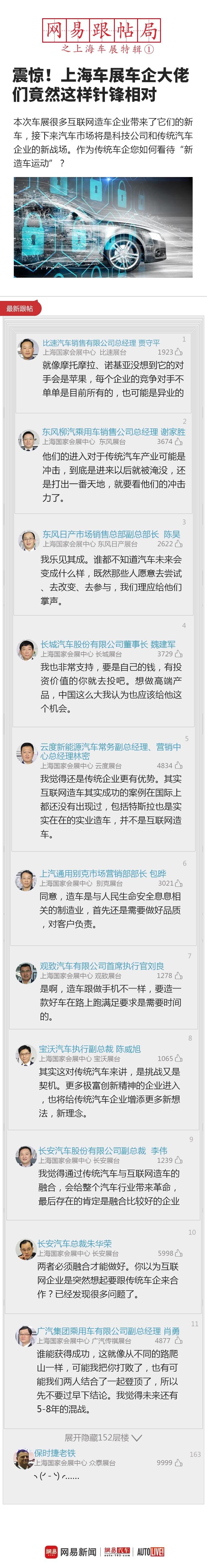 震惊!上海车展车企大佬竟然针锋相对(上)