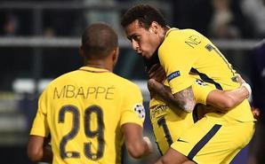 欧冠-三叉戟建功 巴黎4-0比甲冠军
