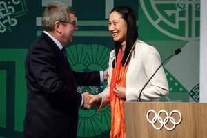 巴赫祝贺张虹当选国际奥委会委员