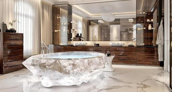 迪拜酒店全球最贵水晶浴缸价值700万