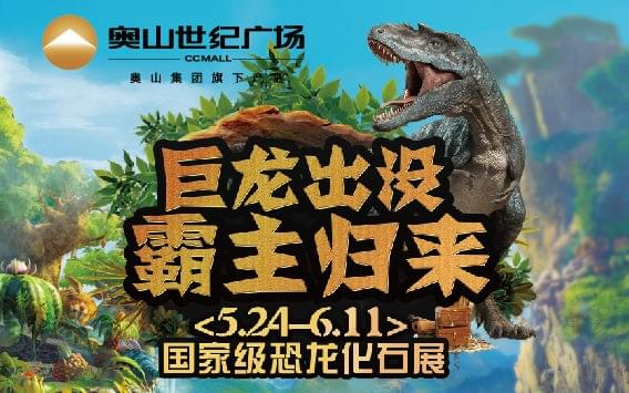 珍稀恐龙化石空降奥山世纪广场
