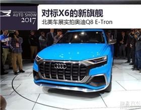 对标X6的新旗舰 车展实拍奥迪Q8 E-Tron
