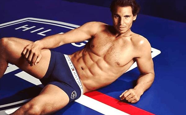 纳达尔再拍内裤写真 秀腹肌荷尔蒙爆表
