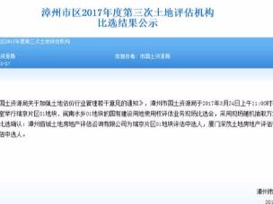 漳州已有6块地进入土地评估环节!