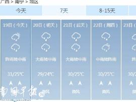 未来3天广西开启新一轮降雨模式 桂西桂南雨势大