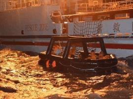 福建一艘货船闽江口沉没 10名船员遇险后全部获救