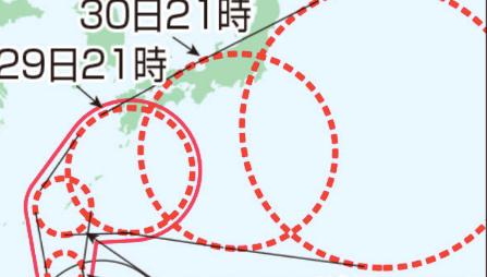 今年第22号台风逼近日本 有可能再次引发大雨