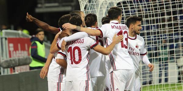 卡利尼奇造2球凯西建功 R罗染红米兰2-1逆转