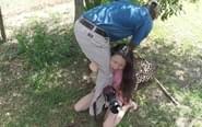 中国女游客南非遭豹子扑袭