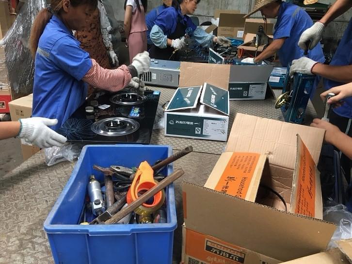 顺德容桂销毁近65万元的假冒伪劣商品 电器为主