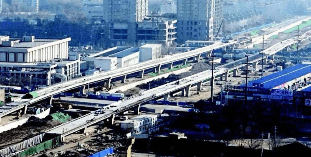 九院沙河改造跨线高架桥主体基本完成