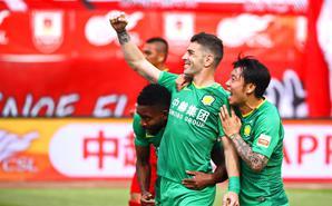 中超-国安2-0亚泰 跃居积分榜第2