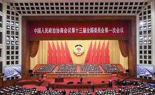 政协十三届一次会议全体会议