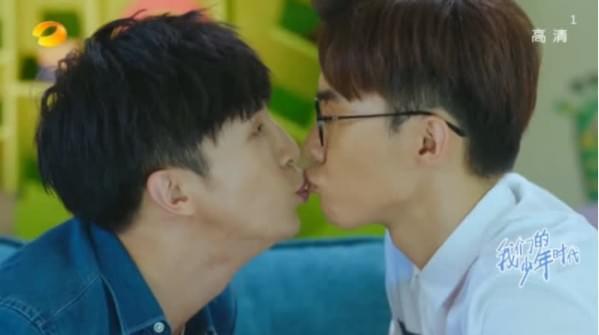 薛之谦、唐禹哲在戏里意外上演男男吻
