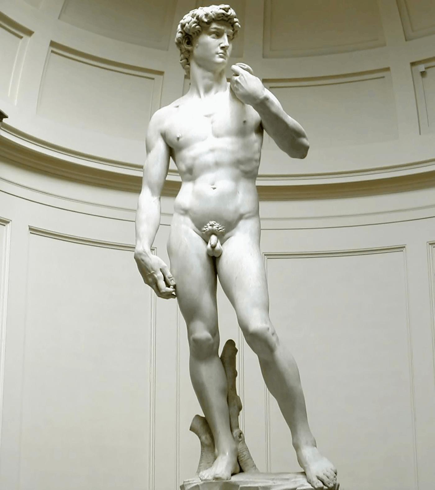 美术史上最优秀男人体《大卫》右手藏秘密武器