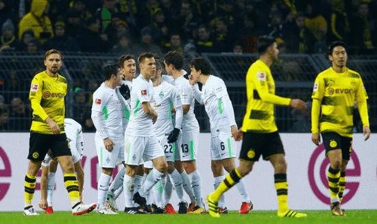 德甲-奥巴梅扬难救主 多特主场1-2不莱梅8轮不胜