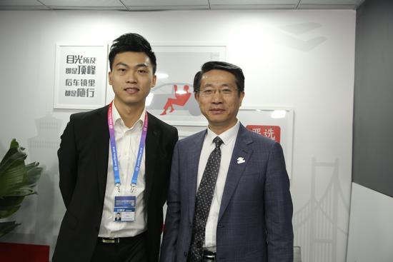 网易汽车主持人与杭州长江汽车控股有限公司董事、贵州长江汽车有限公司总经理 叶子青