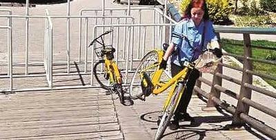 遇共享单车乱停、损坏等现象可拨打12319反映