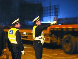 长春交警部门开展集中夜查行动