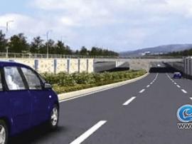 战备大桥开始施工 过往车辆需从临时便道通行