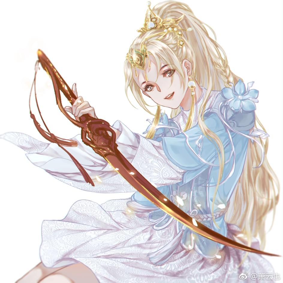 剑网3玩家手绘萝莉放送 大马尾喵金萝莉萌哭了