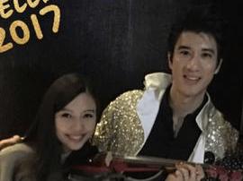 王力宏与妻子甜蜜过新年 李靓蕾拉琴满脸幸福