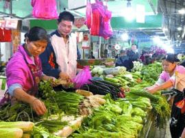 台风离境、冷空气接棒 叶类蔬菜价格小幅上升