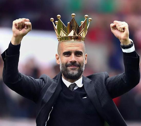 恭喜瓜帅!曼城提前5轮夺英超冠军7年内3次登顶